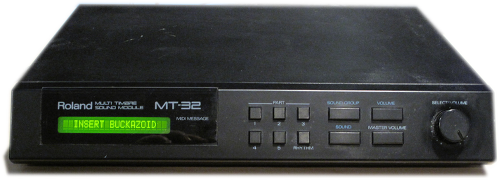 The Roland MT-32 Sound Module.  Ready to play Space Quest!  INSERT BUCKAZOID